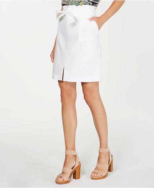INC International Concepts INC Paperbag-Waist Skirt, Created for Macy's