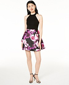 Juniors' Bow-Back Halter Dress, Created for Macy's