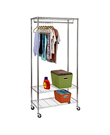 3-Shelf Deluxe Garment Rack