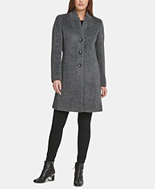 Single-Breasted Wool-Alpaca Blend Walker Coat