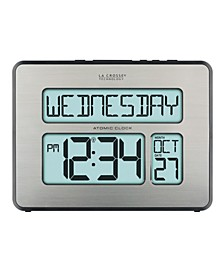 Backlight Atomic Full Calendar Clock with Extra Large Digits