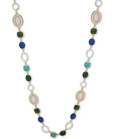 "Anne Klein Two-Tone Multi-Stone 42"" Strand Necklace"