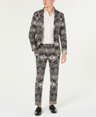 INC Men's Slim-Fit Abstract Print Pants, Created for Macy's