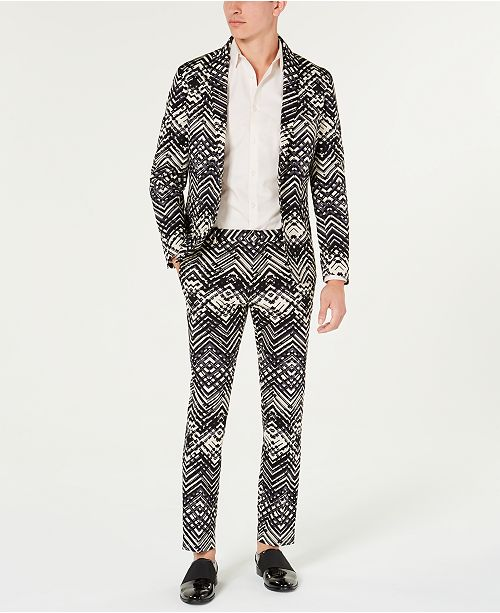 INC International Concepts I.N.C. Slim-Fit Abstract Suit Separates, Created for Macy's