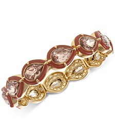 Gold-Tone Stone Stretch Bracelet