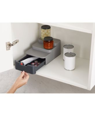 CupboardStore Compact Tiered Organizer with Drawer