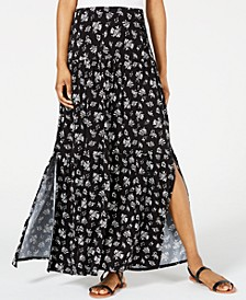 Juniors' Lace-Up Maxi Skirt, Created for Macy's