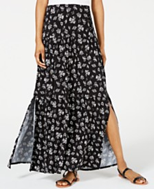 American Rag Juniors' Lace-Up Maxi Skirt, Created for Macy's