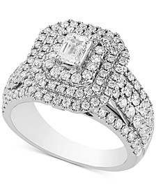 Diamond Multi-Halo Engagement Ring (2 ct. t.w.) in 14k White Gold