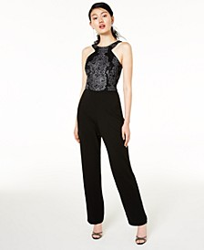 Juniors' Beaded Jumpsuit