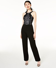 Speechless Juniors' Beaded Jumpsuit