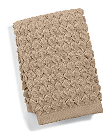 """Hotel Collection Sculpted 13"""" Square Turkish Cotton Washcloth, Created for Macy's"""