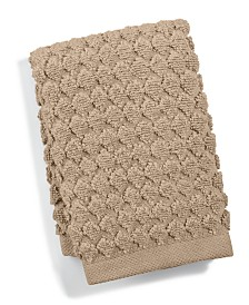 "Hotel Collection Sculpted 13"" Square Turkish Cotton Washcloth, Created for Macy's"