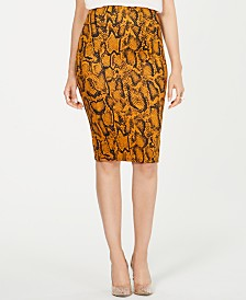 Thalia Sodi Zipper Scuba Pencil Skirt, Created for Macy's