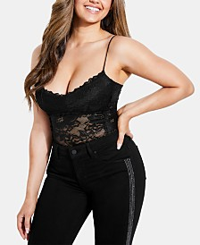 GUESS Hazeley Lace Thong Bodysuit