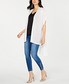 High-Low Pointelle-Knit Cardigan, Created for Macy's