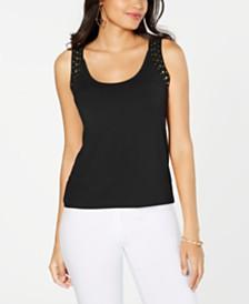 Thalia Sodi Studded Knit Tank, Created for Macy's