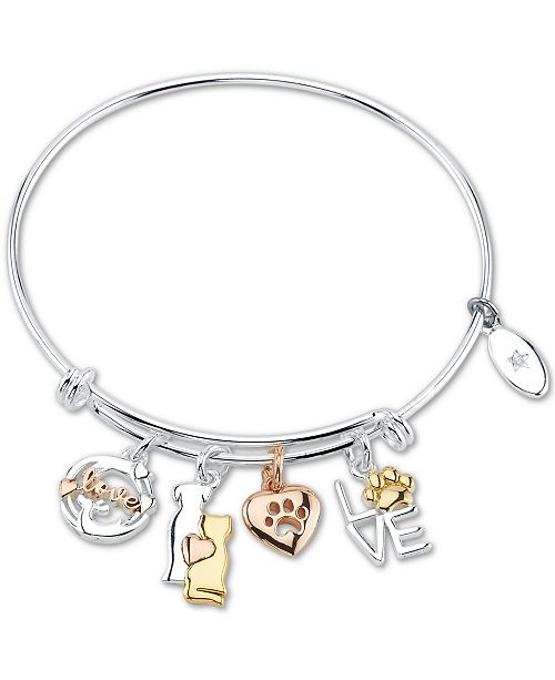 Unwritten Love Cat And Dog Paw Charm