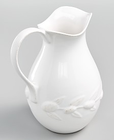 Martha Stewart Collection La Dolce Vita Olive Whiteware Pitcher, Created for Macy's