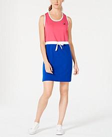Sleeveless Drawstring T-Shirt Dress