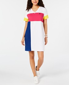 Tommy Hilfiger Sport Colorblocked T-Shirt Dress