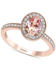 EFFY® Morganite (5/8 ct. t.w.) & Diamond (1/5 ct. t.w.) in 14k Rose Gold