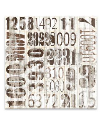 "Weathered Numbers Ii Printed Canvas Art - 20"" W x 20"" H x 1.25"" D"