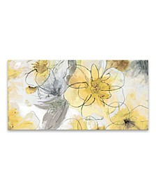 Pretty In Yellow Printed Canvas