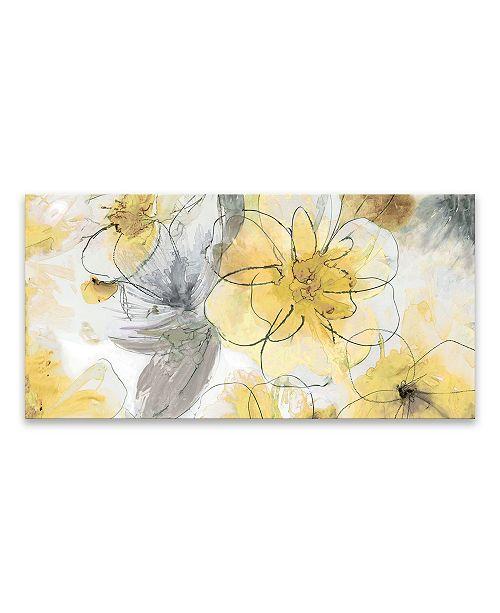 Artissimo Designs Pretty In Yellow Printed Canvas