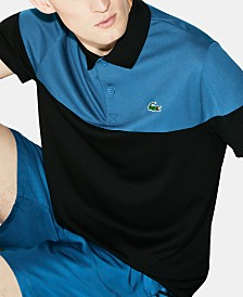 Lacoste Men's Ultra Dry Moisture-Wicking Colorblocked Technical Polo