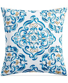 Charter Club Damask Designs Dolce Vita Cotton 300-Thread Count Medallion-Print European Sham, Created for Macy's