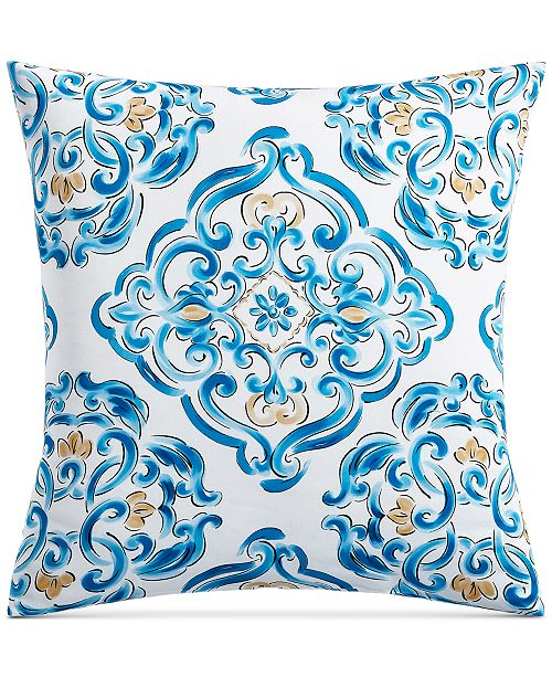 Charter Club Dolce Vita Cotton 300-Thread Count Medallion-Print European Sham, Created for Macy's