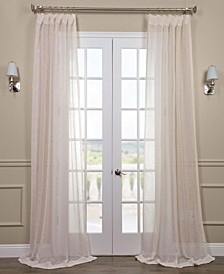 "Open Weave Linen Sheer 50"" x 120"" Curtain Panel"