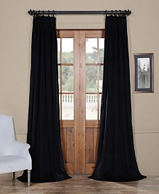 "Exclusive Fabrics & Furnishings Signature Pleated Blackout Velvet 25"" x 96"" Curtain Panel"