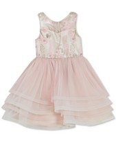 d7bcad4e7b720 Rare Editions Toddler Girls Illusion Neck Embroidered Dress