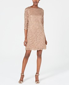 Jessica Howard Sequin & Lace Sheath Dress