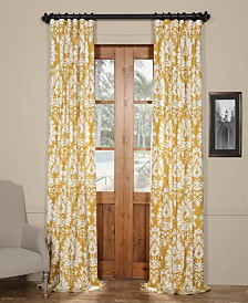 "Exclusive Fabrics & Furnishings Lacuna Printed Cotton Twill 50"" x 96"" Curtain Panel"