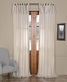 """Exclusive Fabrics & Furnishings Solid Cotton Tie-Top 50"""" x 108"""" Curtain Panel"""