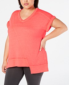 Plus Size Asymmetrical T-Shirt