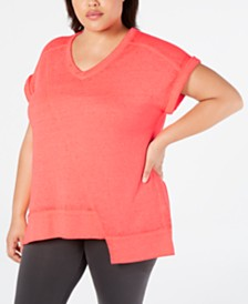 Calvin Klein Performance Plus Size Asymmetrical T-Shirt