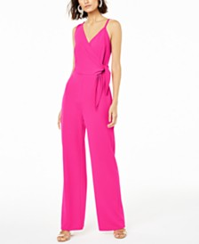 Bar III Tie-Bodice Jumpsuit, Created for Macy's