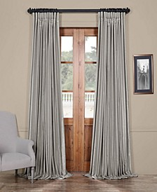 "Blackout Extra Wide Vintage Textured 100"" x 96"" Curtain Panel"