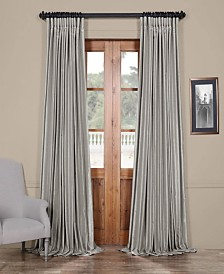 "Exclusive Fabrics & Furnishings Blackout Extra Wide Vintage Textured 100"" x 96"" Curtain Panel"