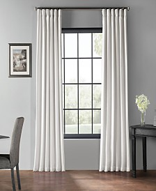 "Exclusive Fabrics & Furnishings Blackout Vintage Textured 50"" x 120"" Curtain Panel"