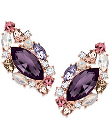 ZAXIE Past Midnight Cluster Stone Stud Earrings
