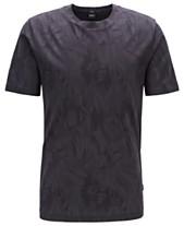 2579aa33 BOSS Men's Tessler 121 Slim-Fit Cotton Jacquard T-Shirt