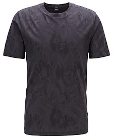 BOSS Men's Tessler 121 Slim-Fit Cotton Jacquard T-Shirt