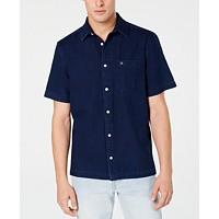 Calvin Klein Jeans Men's Boxy-Fit Indigo Herringbone Shirt Deals