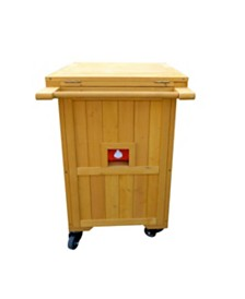 Leisure Season Wooden Cooler-Warmer Cart
