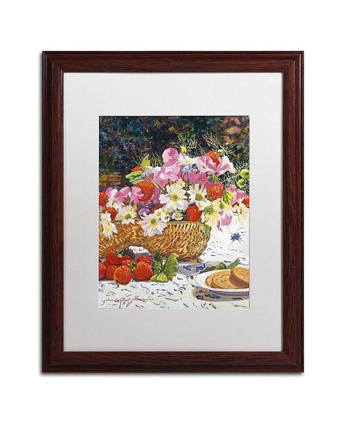 "Trademark Global David Lloyd Glover 'The Summer Picnic' Matted Framed Art - 16"" x 20"""